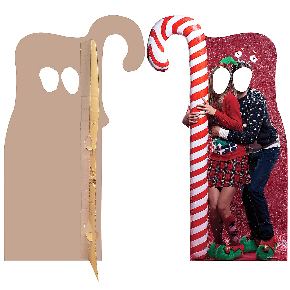 Ugly Christmas Sweater with Candy Cane Life-Size Photo Cardboard Cutout Image #2