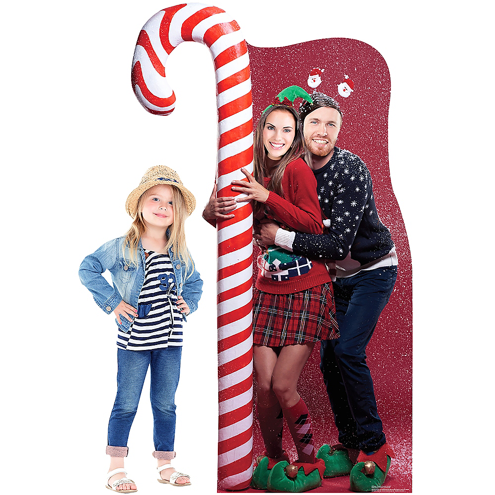 Ugly Christmas Sweater with Candy Cane Life-Size Photo Cardboard Cutout Image #3