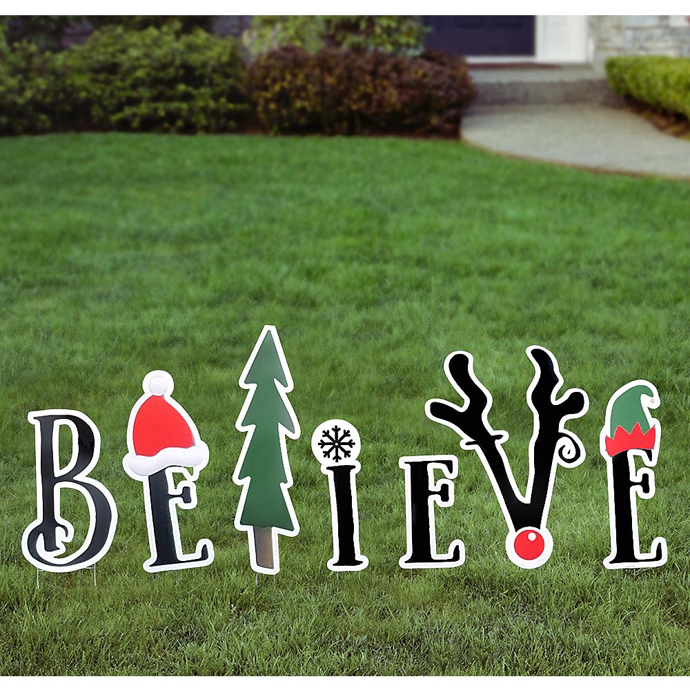 Believe Yard Sign Set 7pc Image #1
