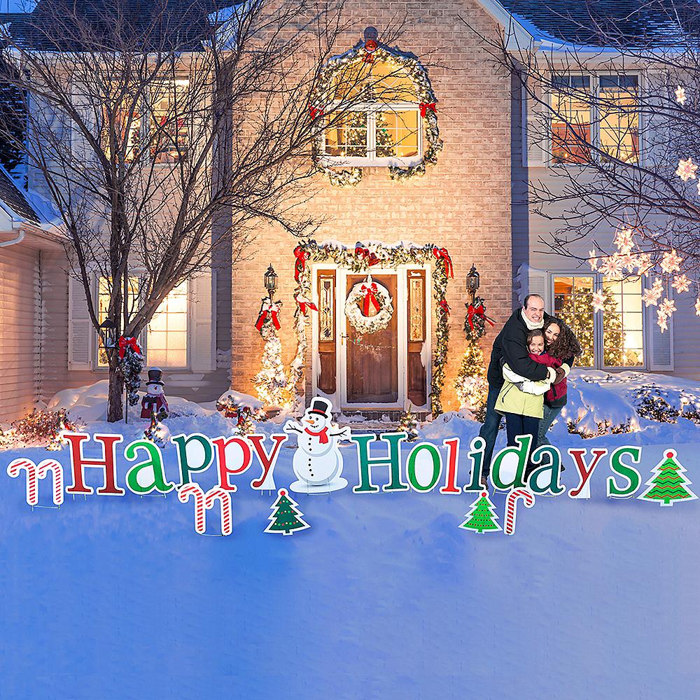 Happy Holidays Yard Sign Set 20pc Image #1