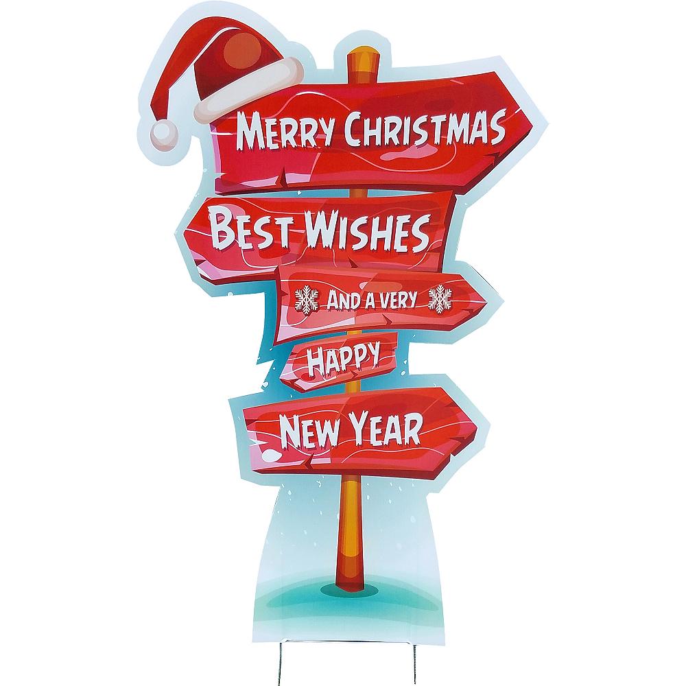 Holiday Directional Yard Sign Image #1