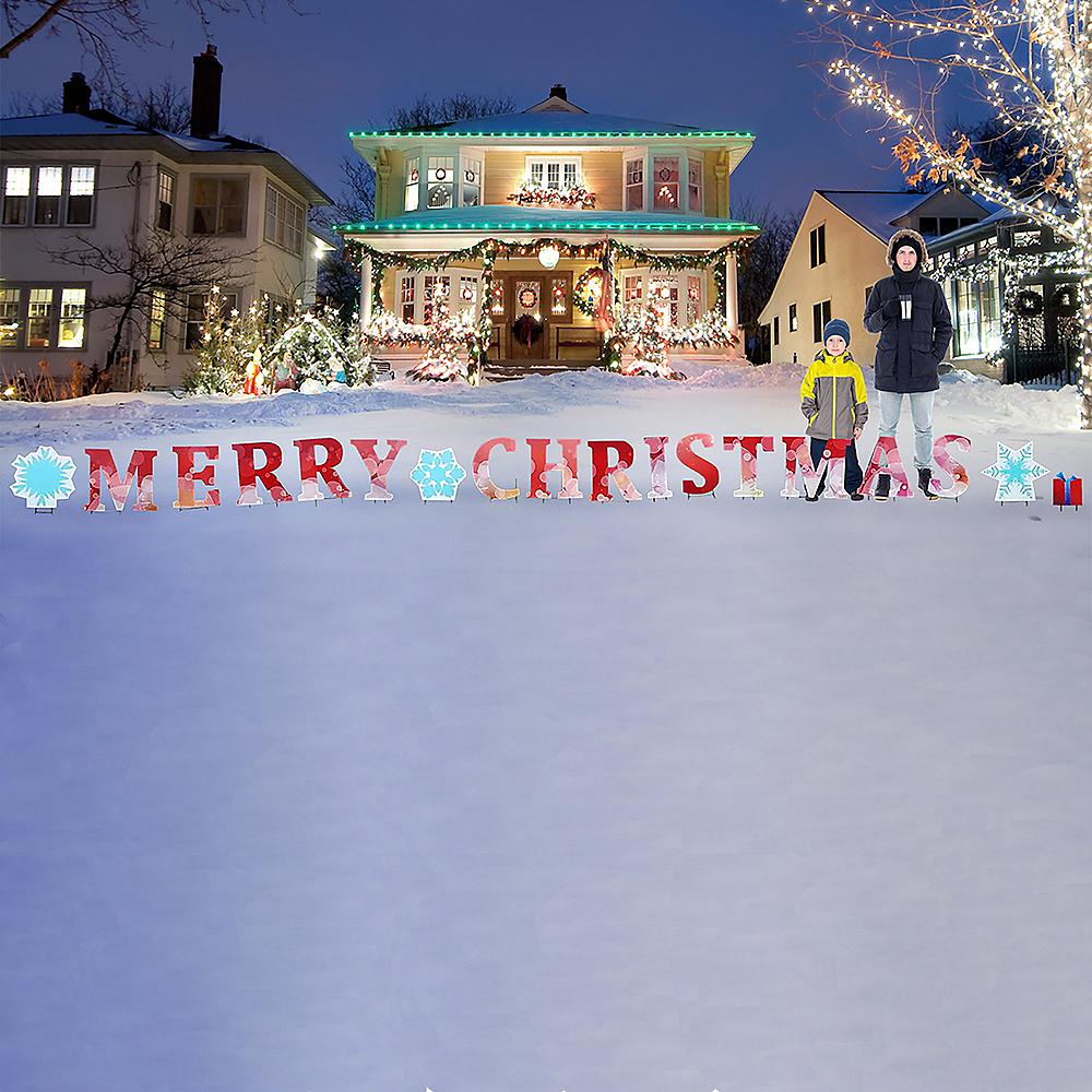 Merry Christmas Yard Sign Set 18pc Image #1