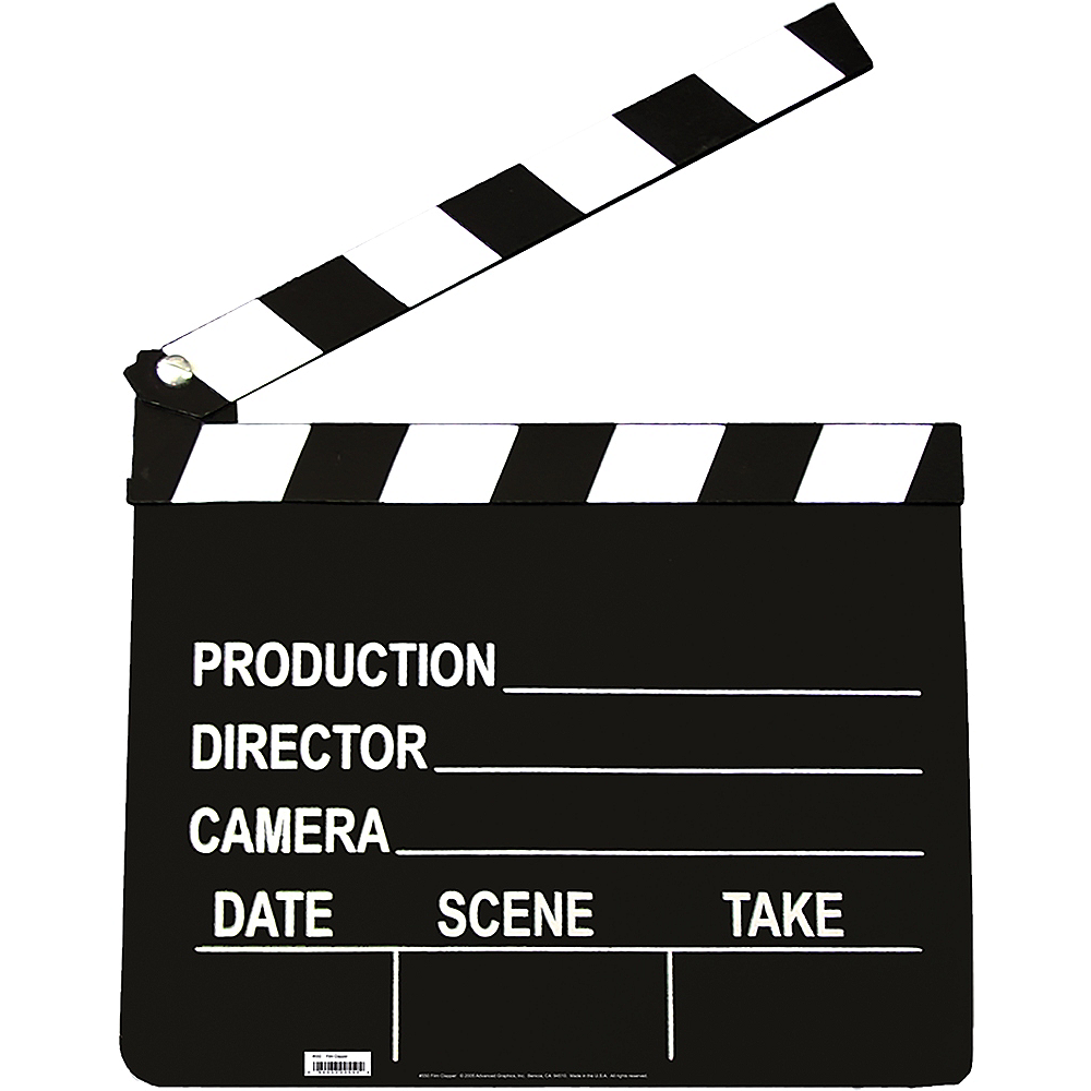 Nav Item for Film Clapper Standee Image #1