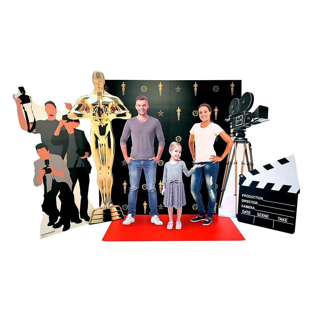 Red Carpet Hollywood Life-Size Cardboard Cutout Set 7pc Image #1