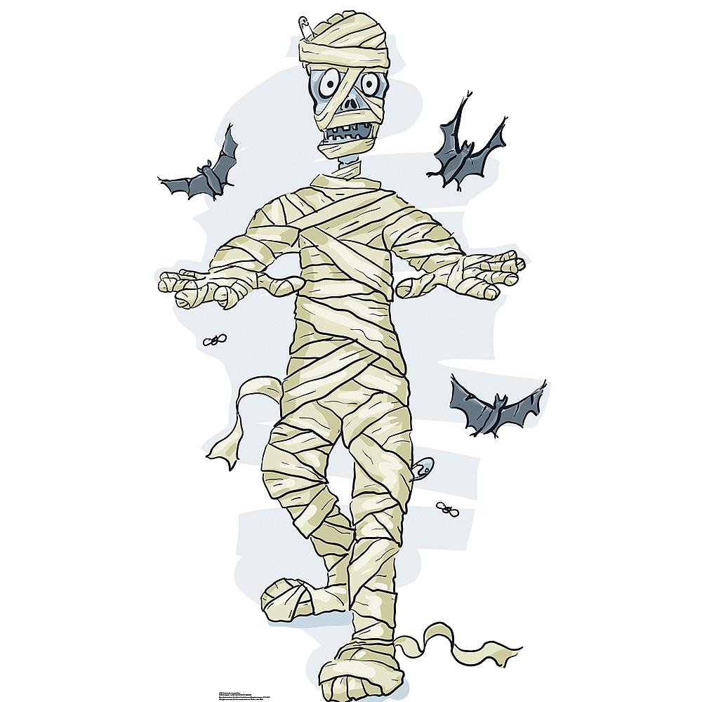 Cartoon Mummy & Bats Standee Image #1