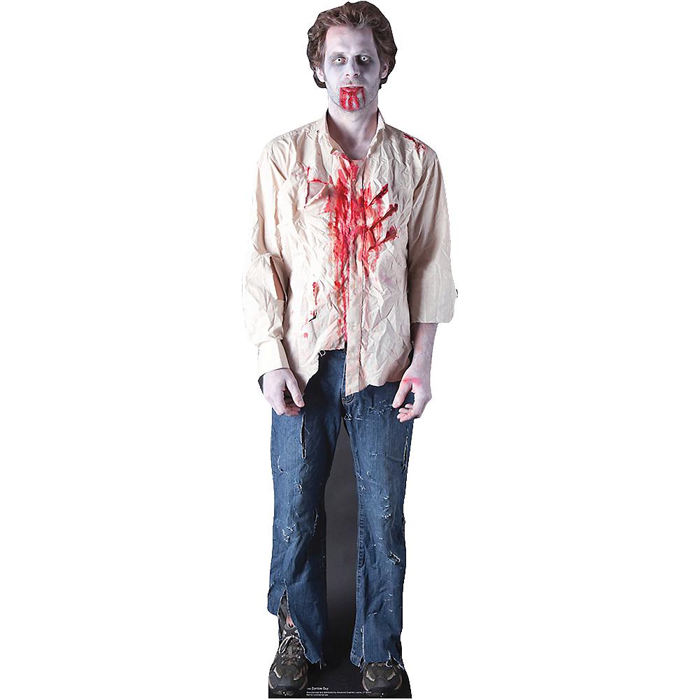 Zombie Guy Life-Size Cardboard Cutout Image #1