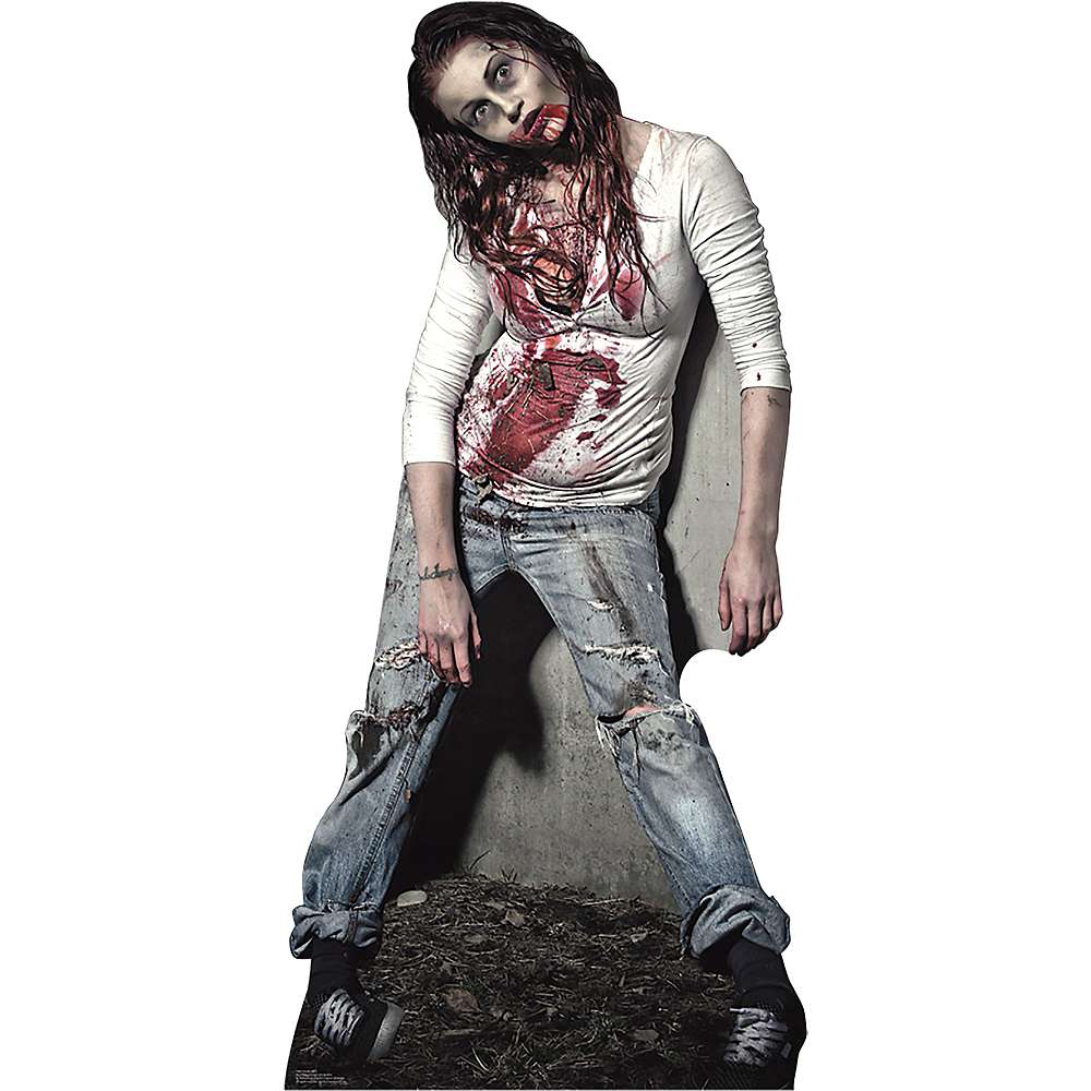 Zombie Girl Life-Size Cardboard Cutout Image #1