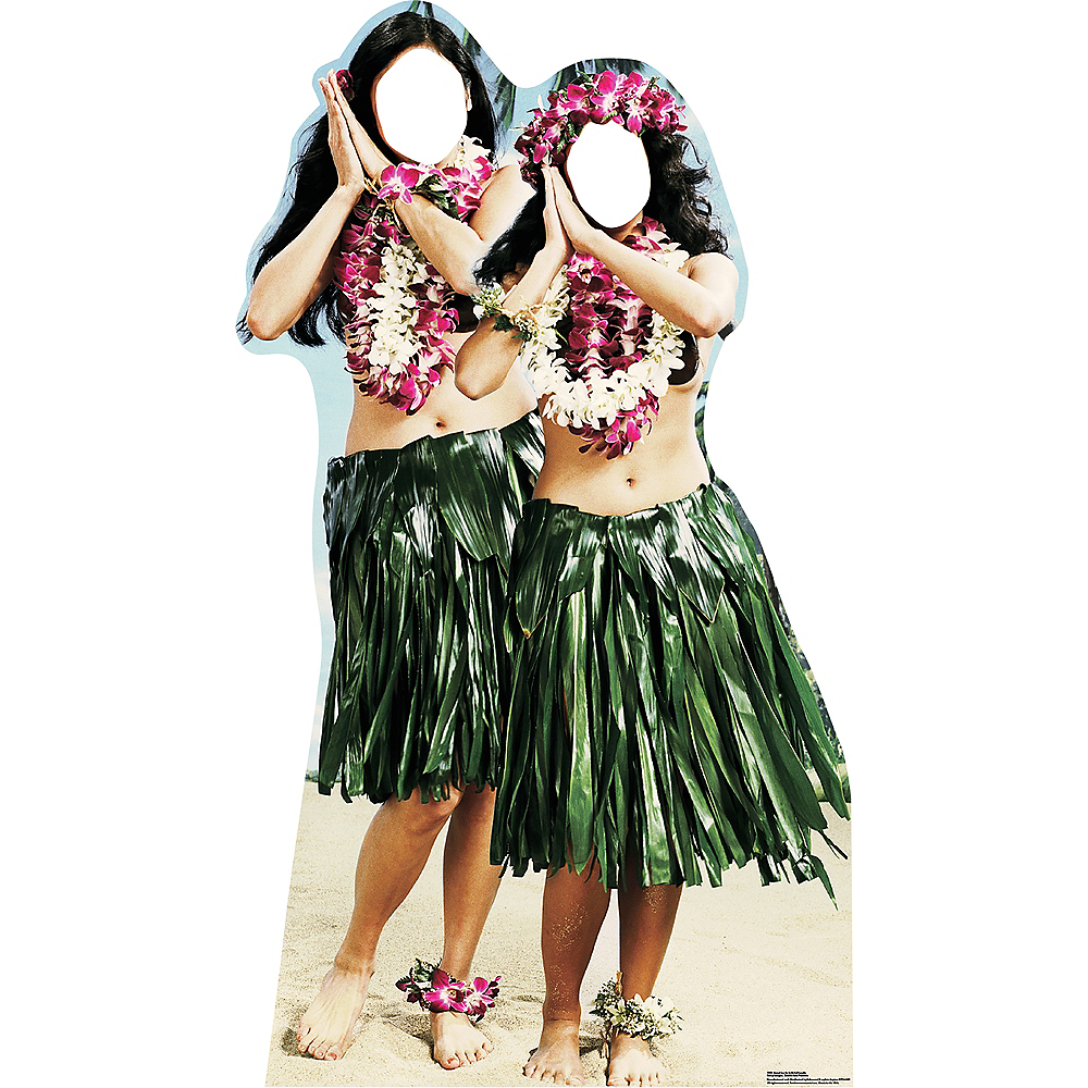 Hawaiian Hula Girls Life-Size Photo Cardboard Cutout Image #1
