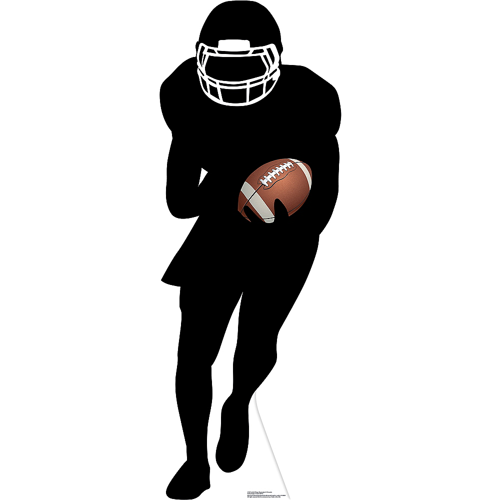 Football Player Running Back Silhouette Life-Size Cardboard Cutout Image #1