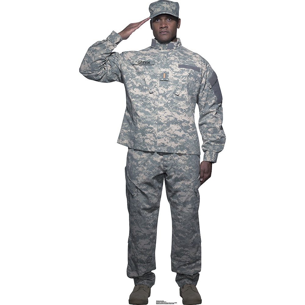 Digital Camo Soldier Life-Size Cardboard Cutout Image #1