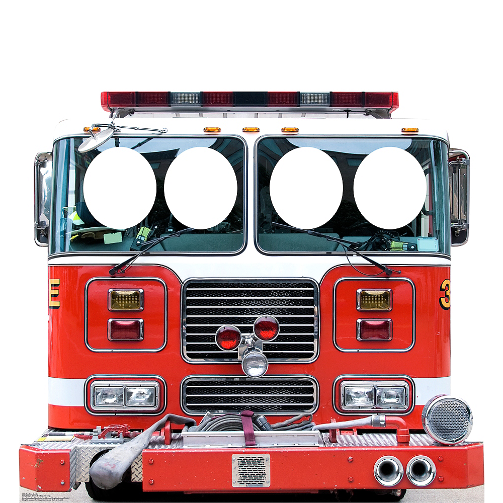 Fire Truck Photo Standee Image #1