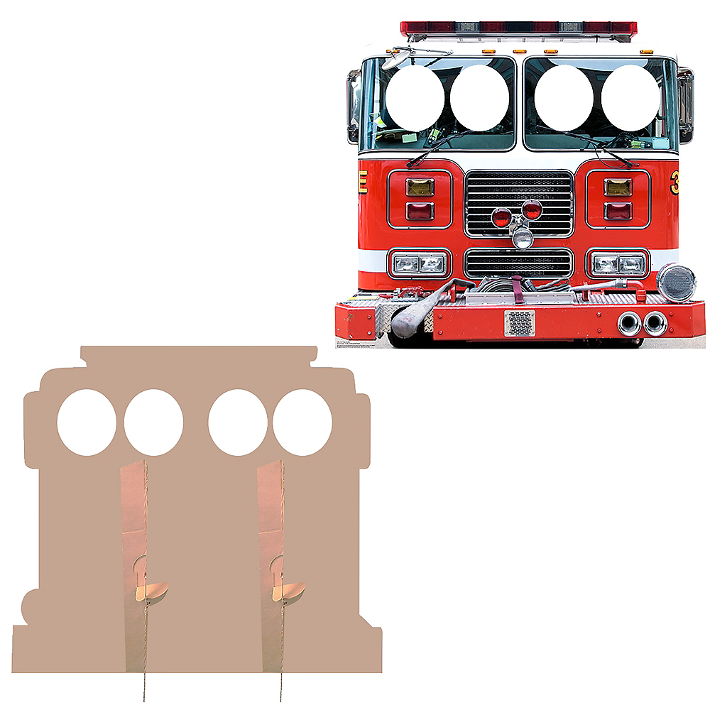 Fire Truck Photo Standee Image #2