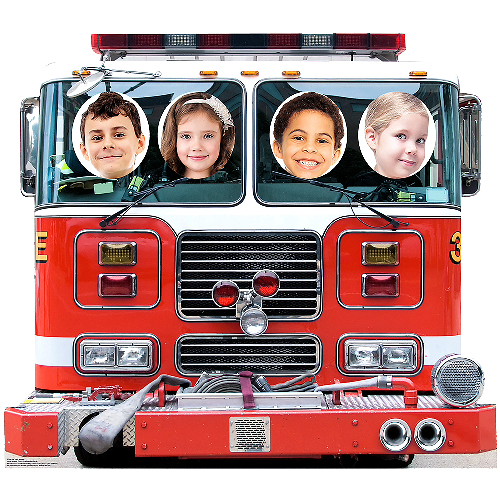 Fire Truck Photo Standee Image #3