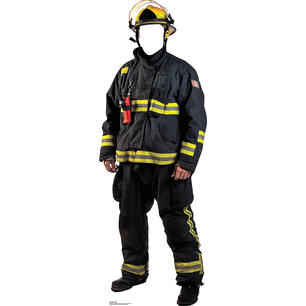 Nav Item for Fireman Life-Size Photo Cardboard Cutout Image #1