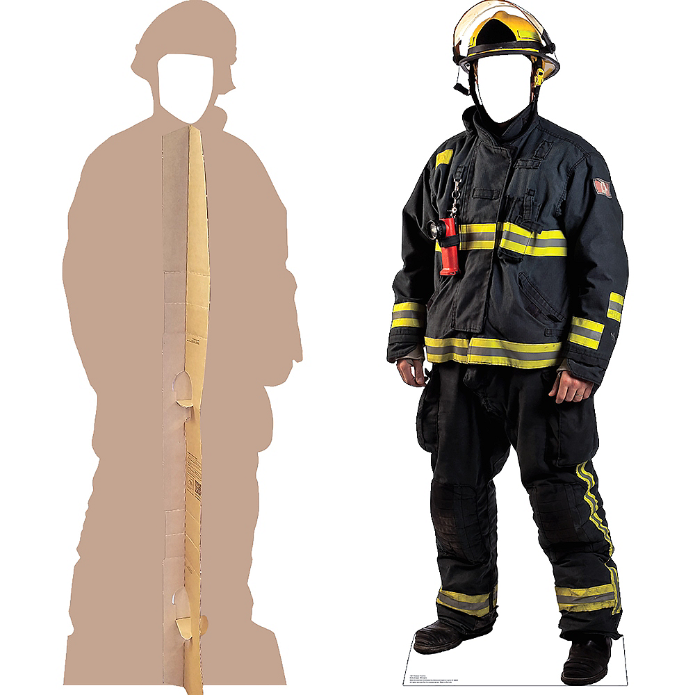 Nav Item for Fireman Life-Size Photo Cardboard Cutout Image #2