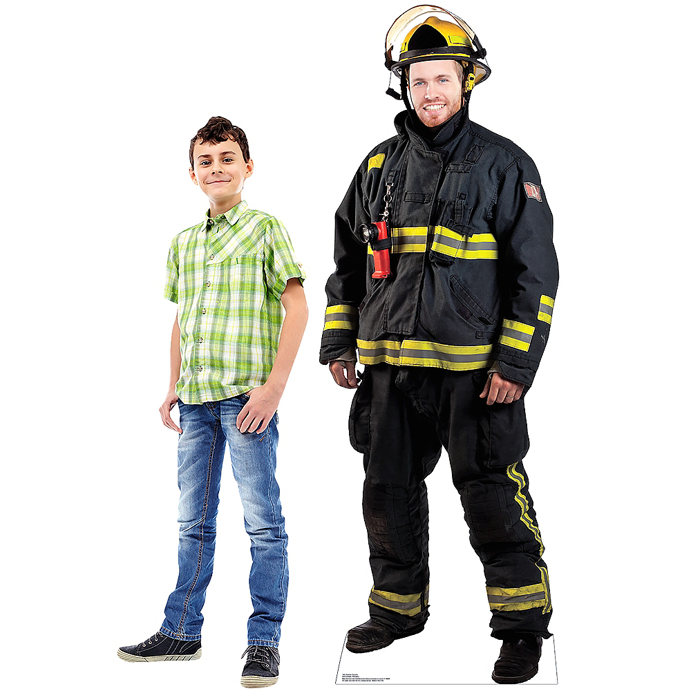 Nav Item for Fireman Life-Size Photo Cardboard Cutout Image #3