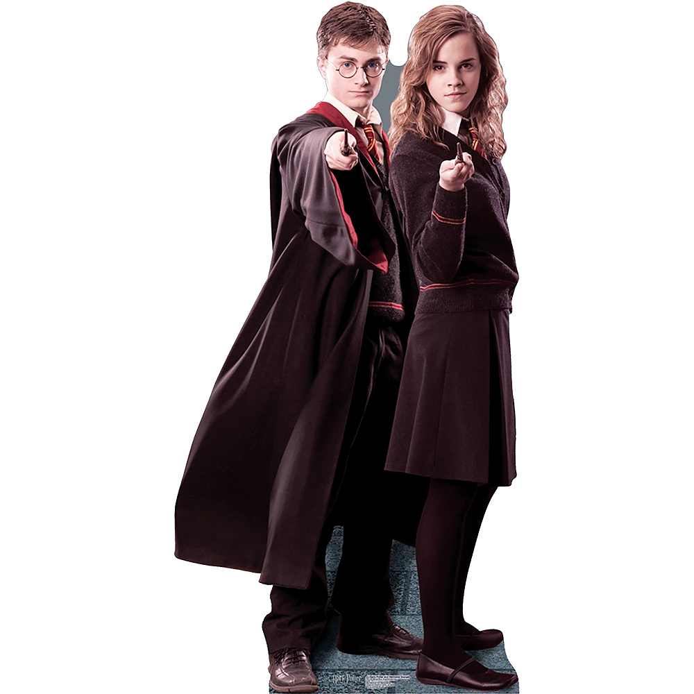 Harry Potter & Hermione Granger Life-Size Cardboard Cutout Image #1