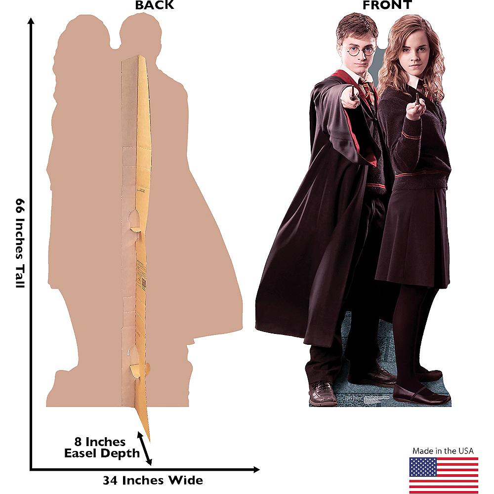Harry Potter & Hermione Granger Life-Size Cardboard Cutout Image #3