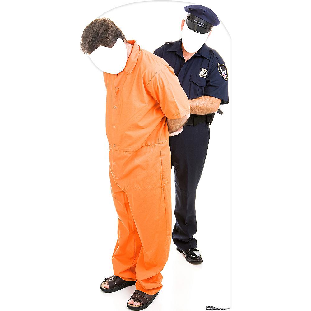 Prisoner & Police Life-Size Photo Cardboard Cutout Image #1