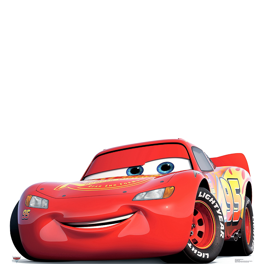 lightning mcqueen life size cardboard cutout 64in x 33in. Black Bedroom Furniture Sets. Home Design Ideas