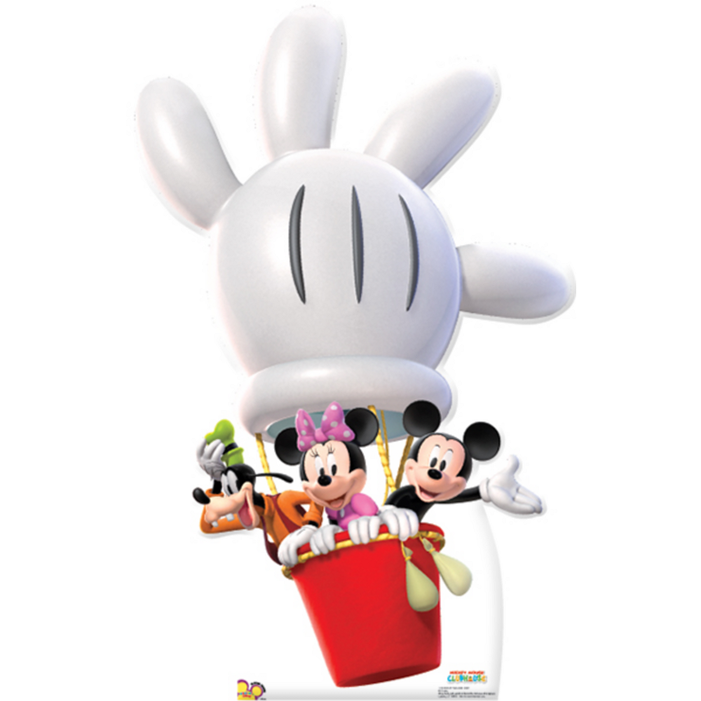 Mickey Mouse Balloon Ride Life-Size Cardboard Cutout Image #1