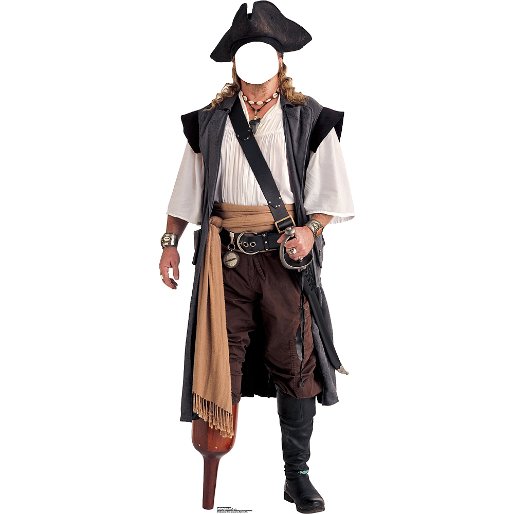 Peg Leg Pirate Life-Size Photo Cardboard Cutout Image #1