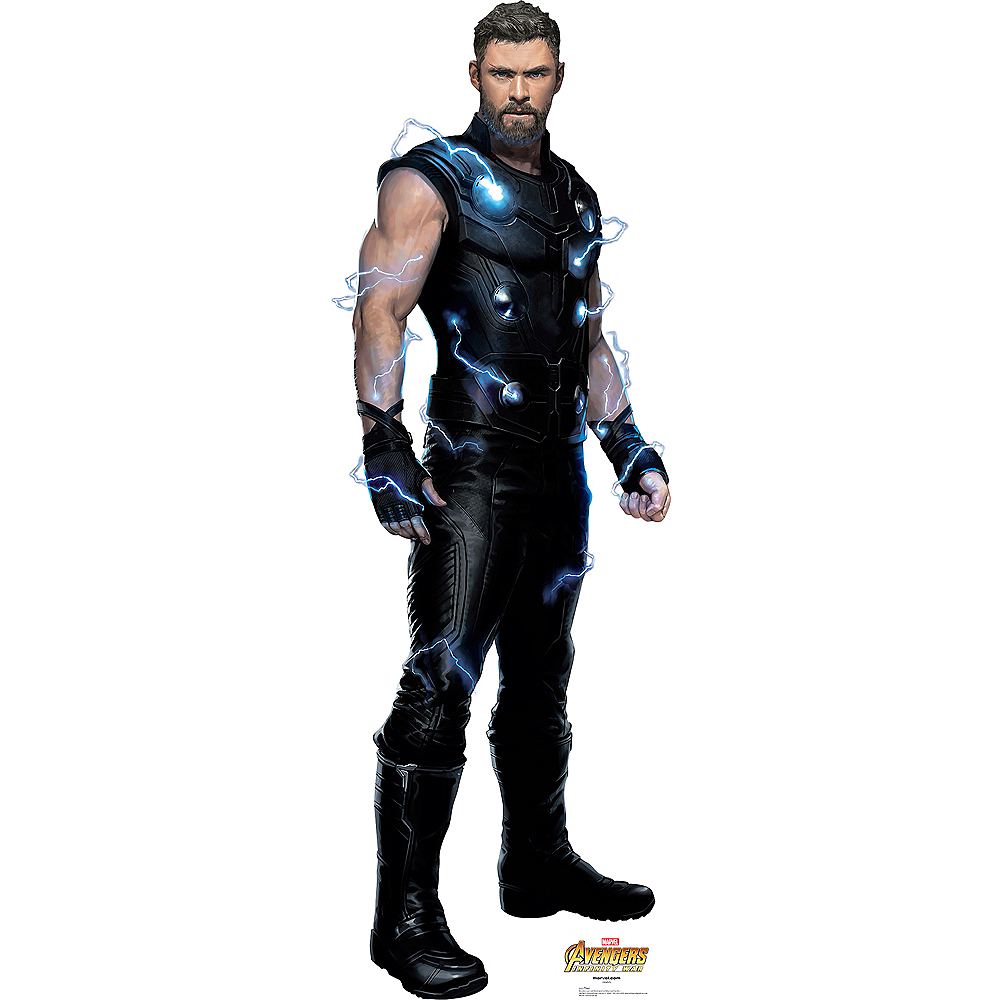 thor life-size cardboard cutout 25in x 74in - avengers: infinity war