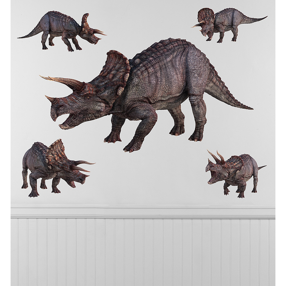 Triceratops Wall Decals 5ct Image #1