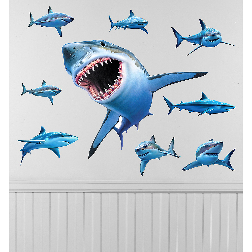 Shark Wall Decals 9ct Image #1