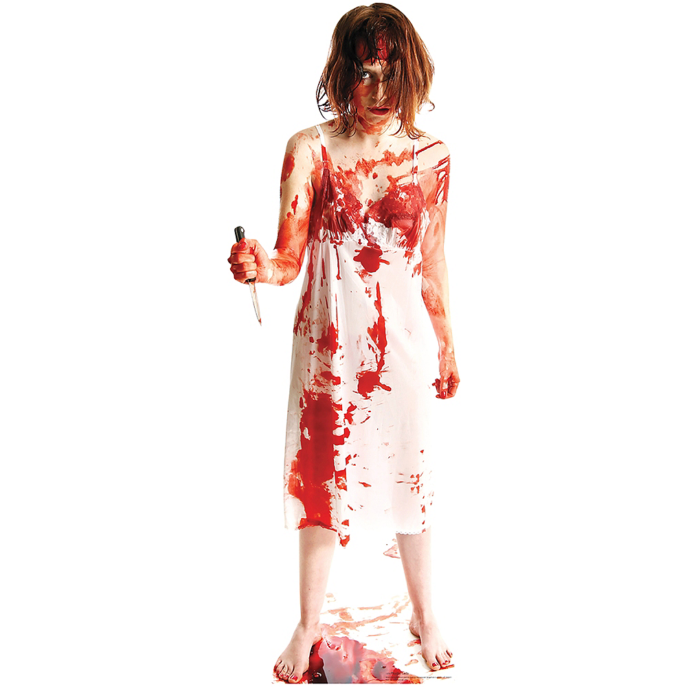 Psycho Lady Life-Size Cardboard Cutout Image #1