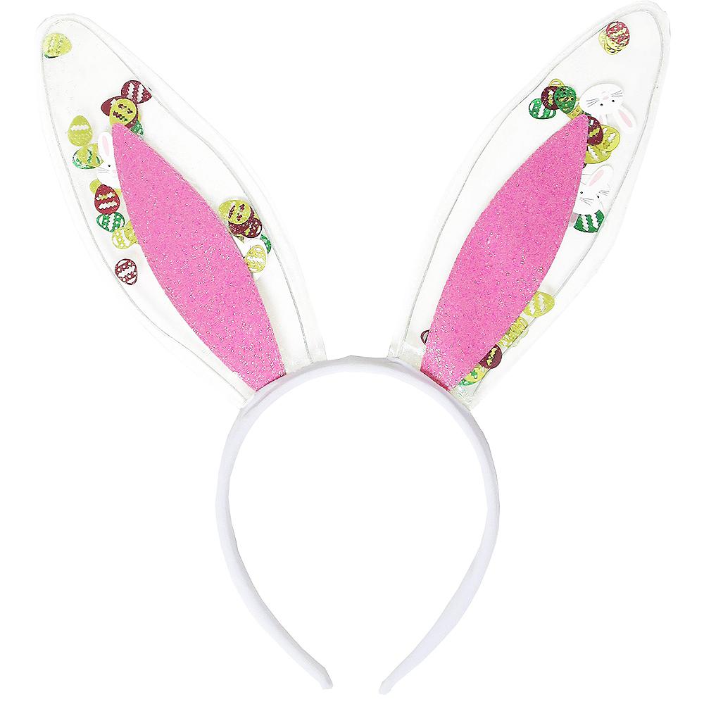 Easter Confetti Bunny Ear Headband Image #1
