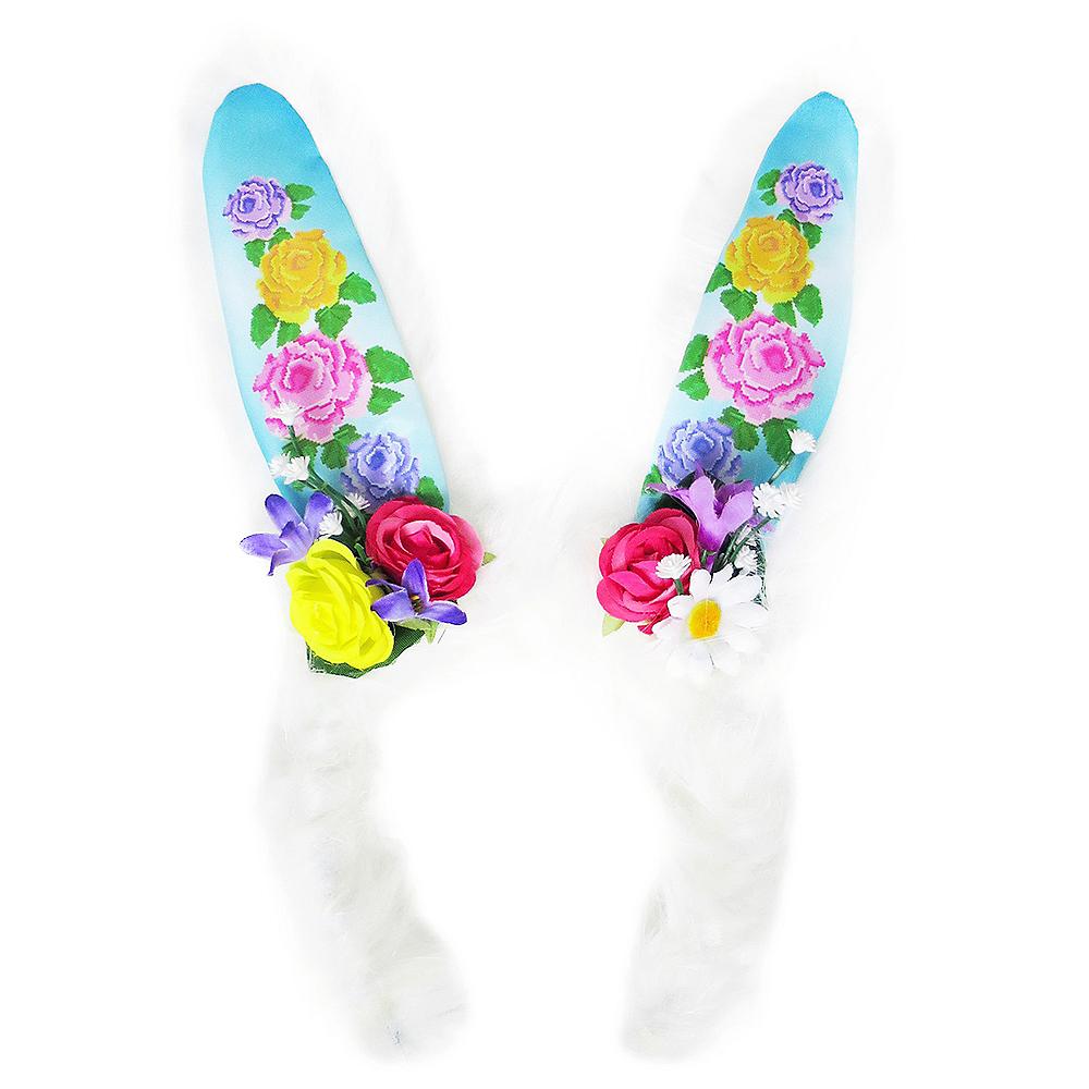 Floral Bunny Ear Headband Image #1