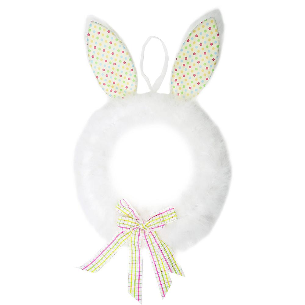 Plush Easter Bunny Wreath Image #1