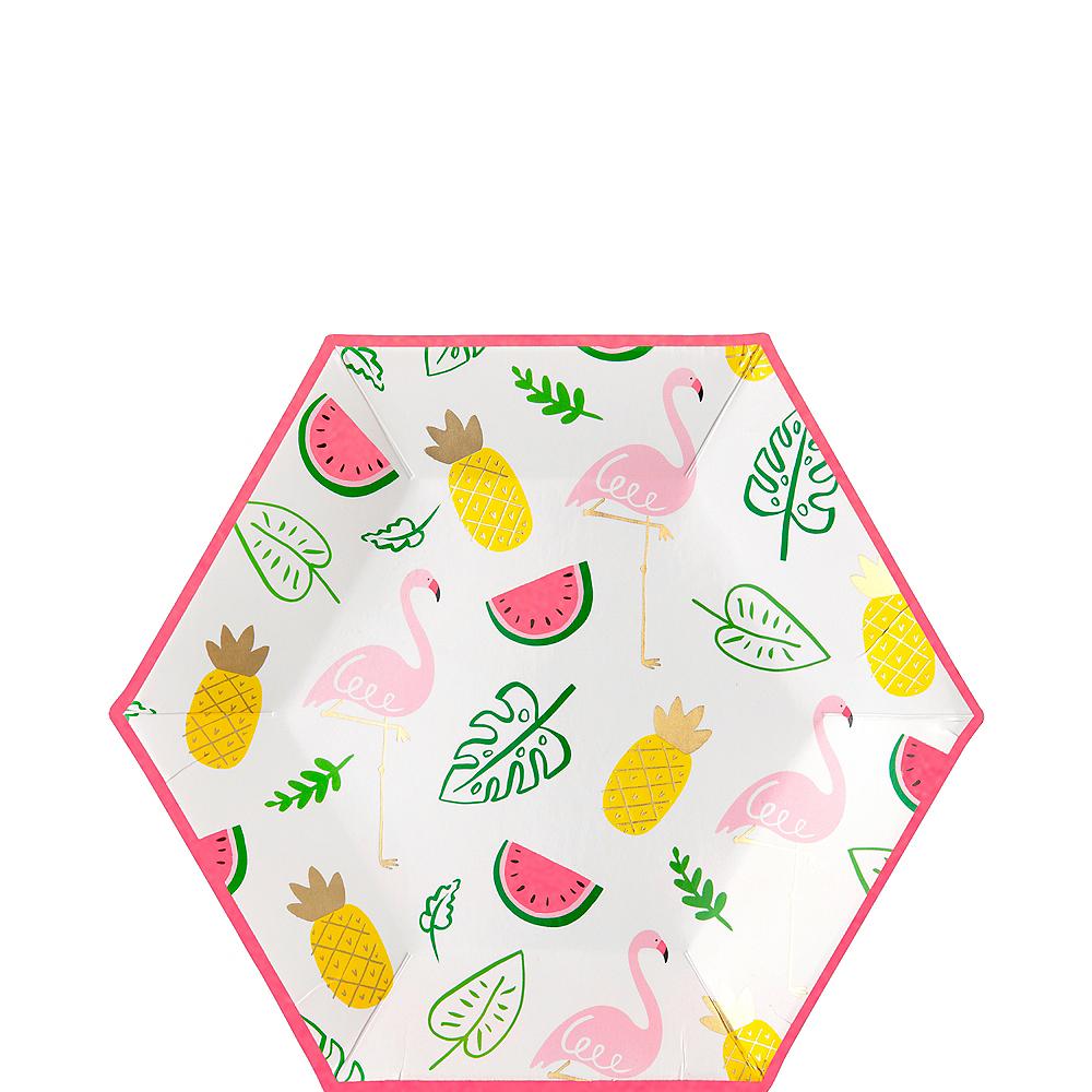 Flamingos & Fruit Dessert Plates 8ct Image #1