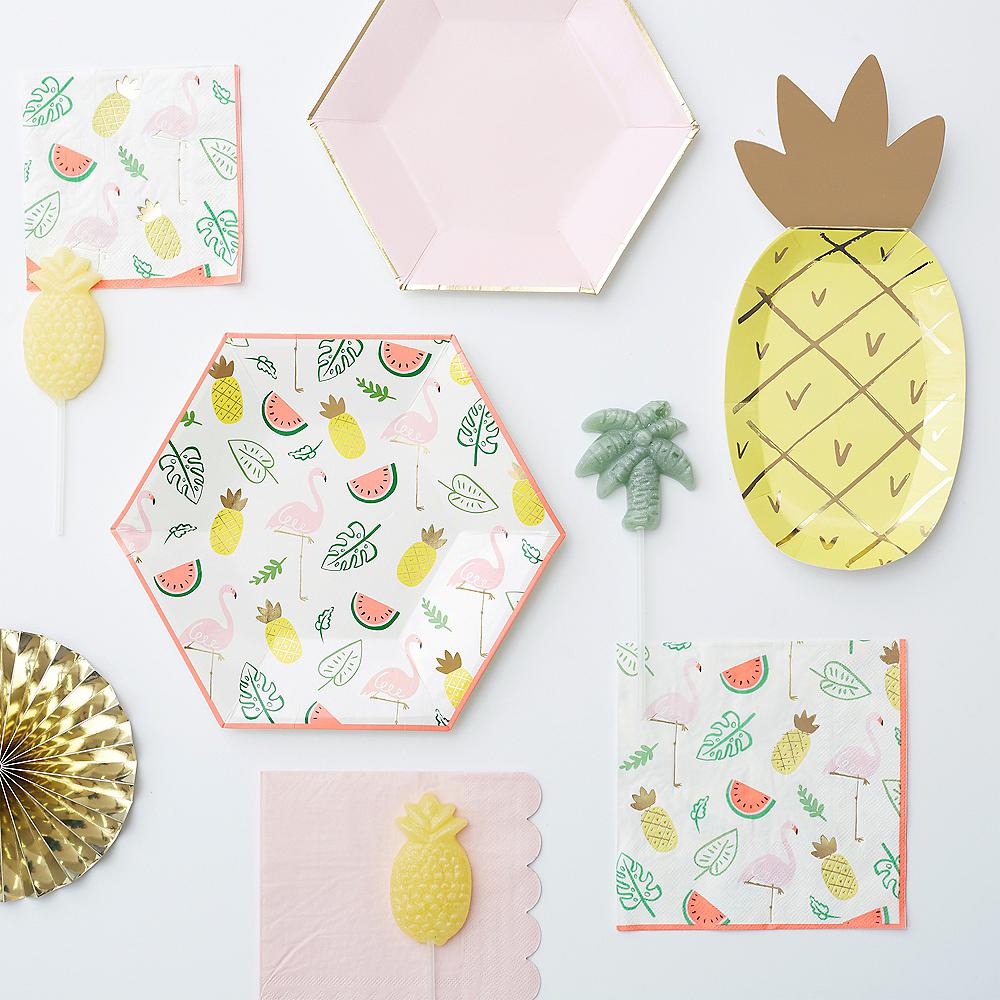 Flamingos & Fruit Dessert Plates 8ct Image #3