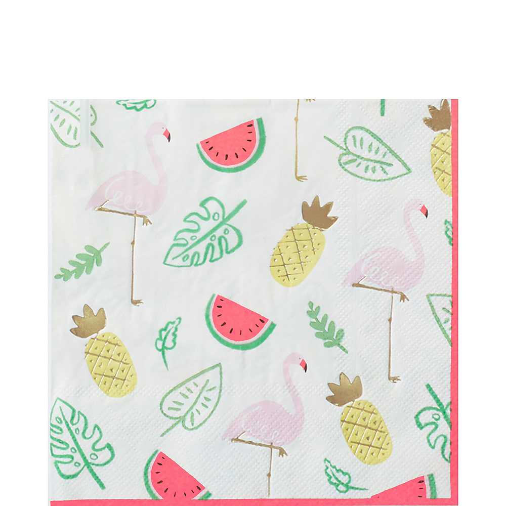Flamingos & Fruit Lunch Napkins 16ct Image #1