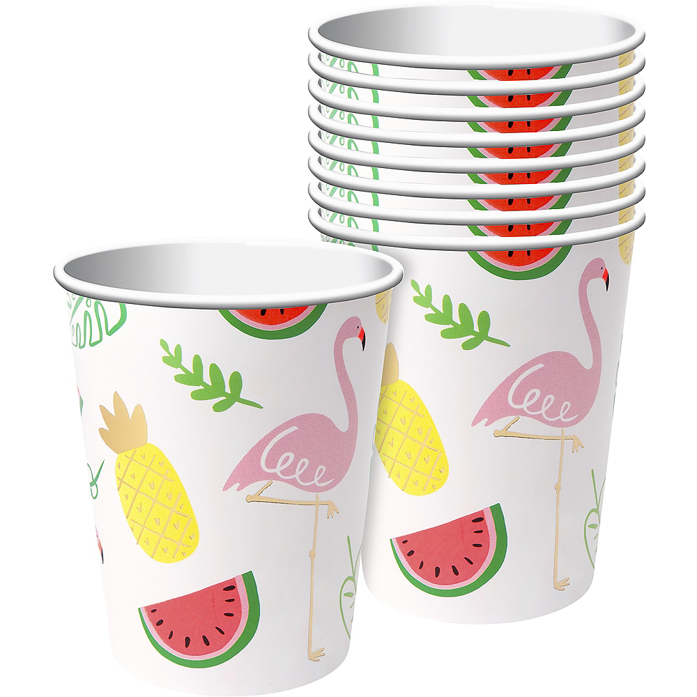 Flamingos & Fruit Cups 8ct Image #1