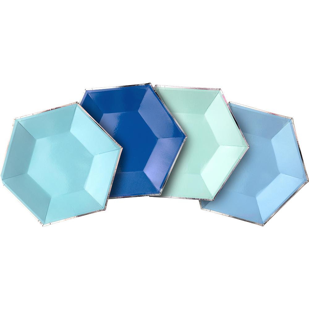 Shades of Blue Dessert Plates 8ct Image #1