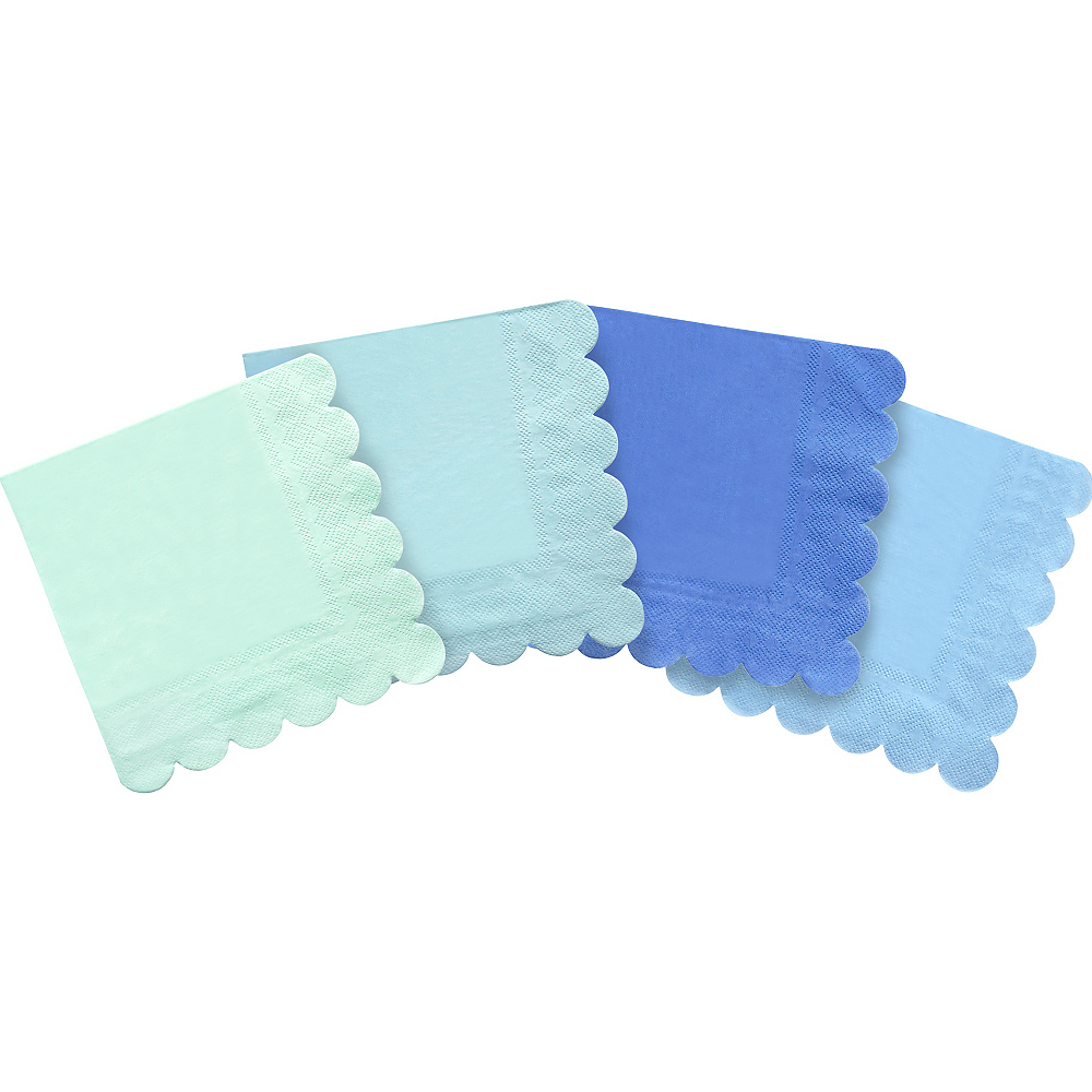 Nav Item for Shades of Blue Beverage Napkins 20ct Image #1