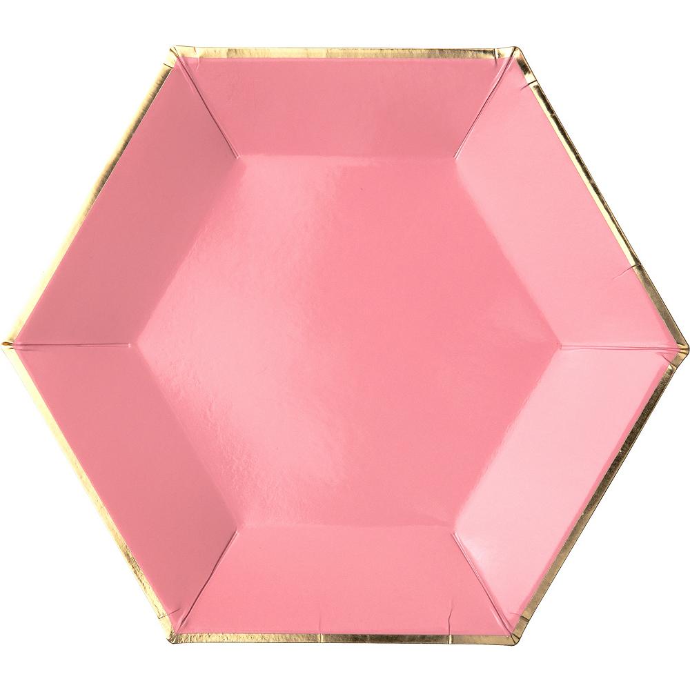 Shades of Pink Dessert Plates 8ct Image #3
