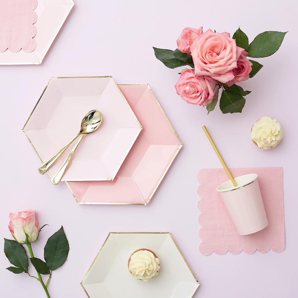 Shades of Pink Dessert Plates 8ct Image #5