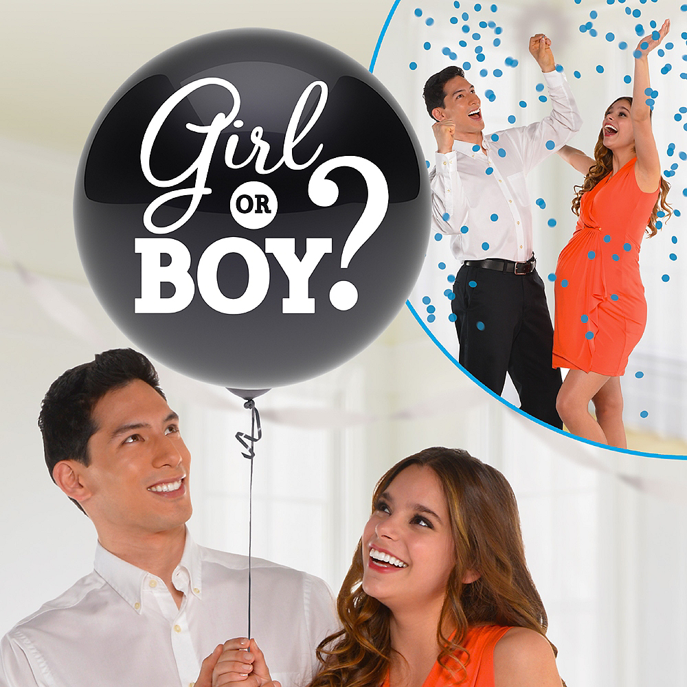 Boy Gender Reveal Balloon with Confetti Image #1