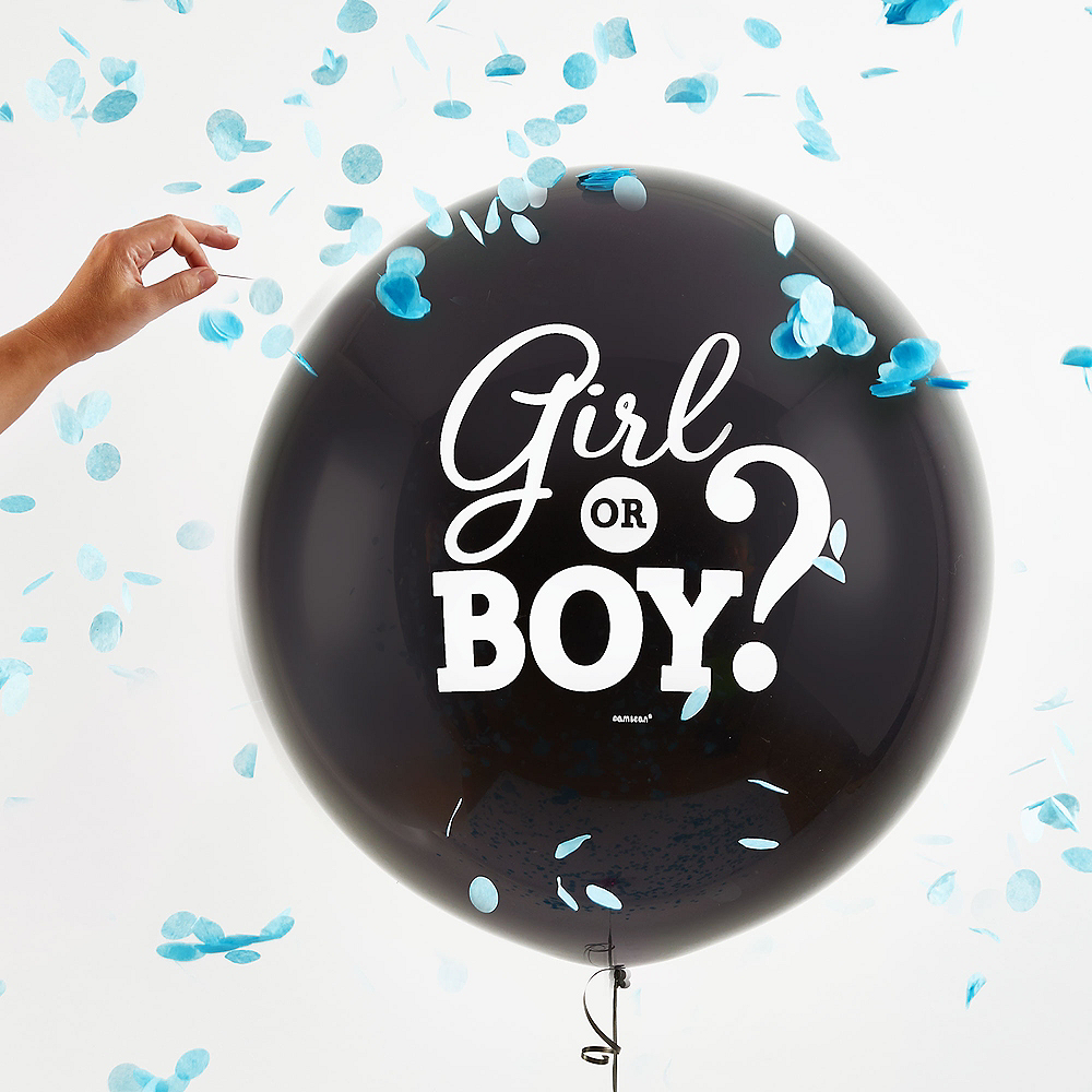 Nav Item for Boy Gender Reveal Balloon with Confetti Image #2