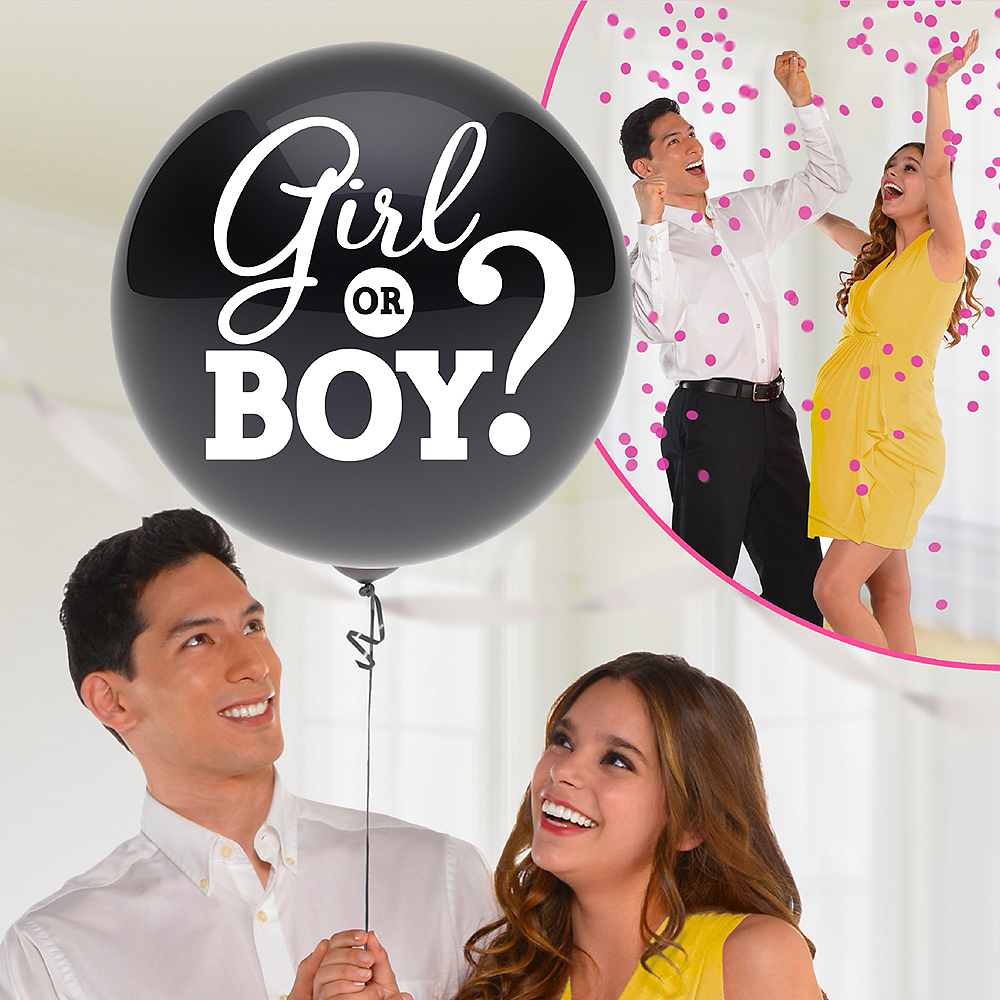 Girl Gender Reveal Balloon with Confetti Image #1