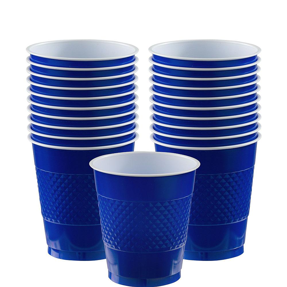 Caribbean Blue & Royal Blue Tableware Kit for 16 Guests Image #5