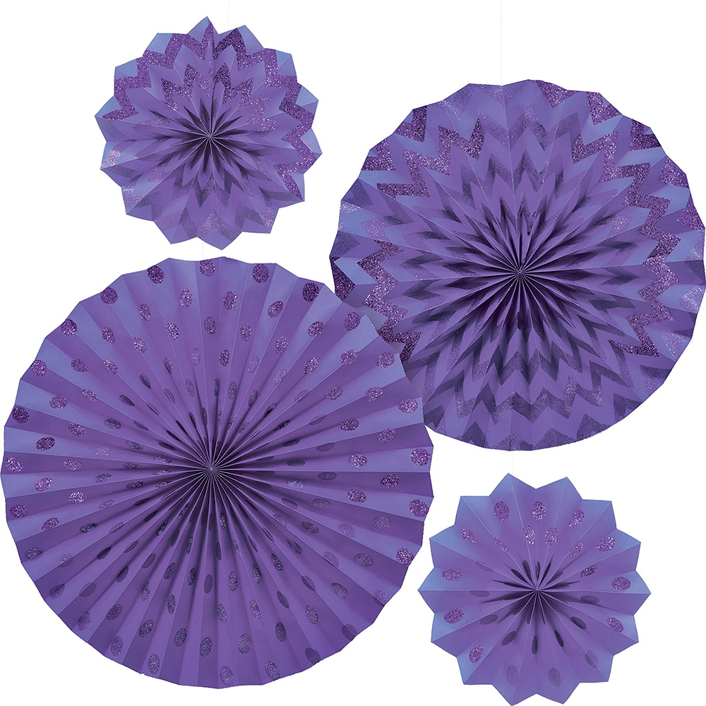 Lavender & Purple Deluxe Party Kit for 16 Guests Image #6