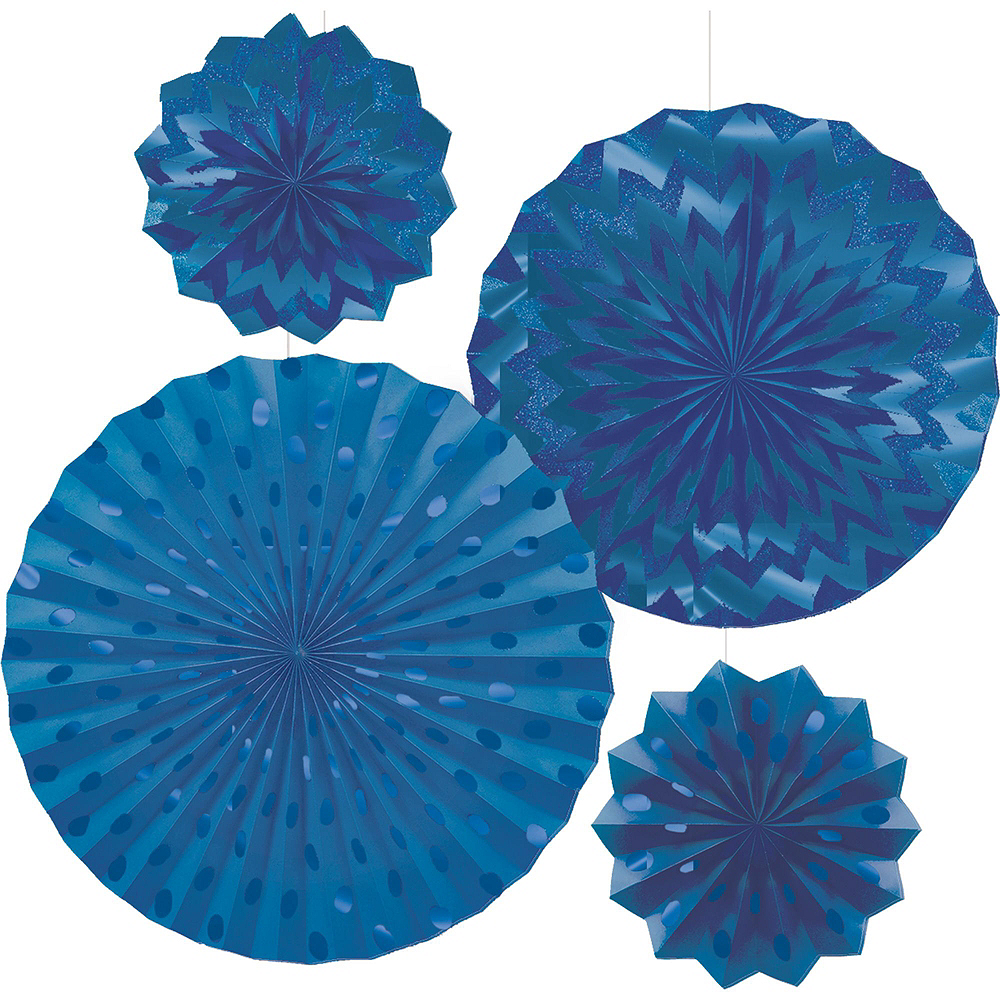 Caribbean Blue & Royal Blue Deluxe Party Kit for 16 Guests Image #7