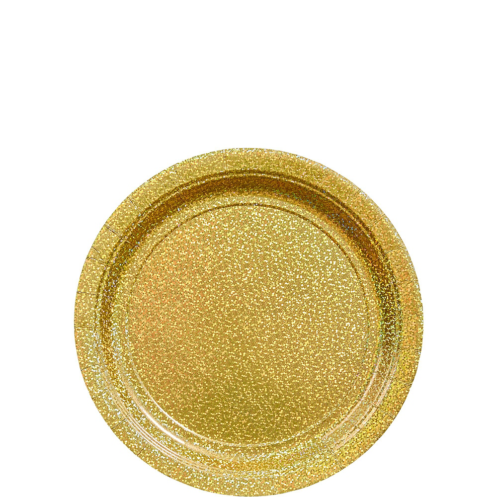 Prismatic Gold Deluxe Party Kit for 16 Guests Image #2