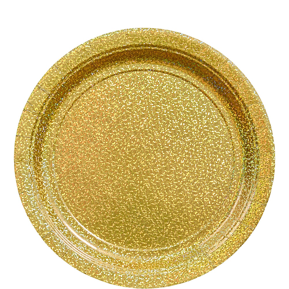 Prismatic Gold Deluxe Party Kit for 16 Guests Image #3
