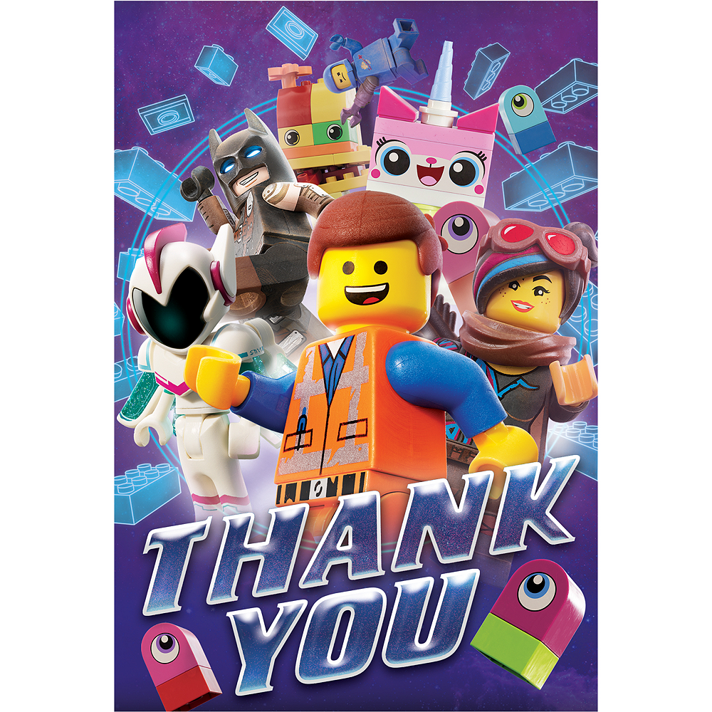 The LEGO Movie 2: The Second Part Thank You Notes 8ct Image #1
